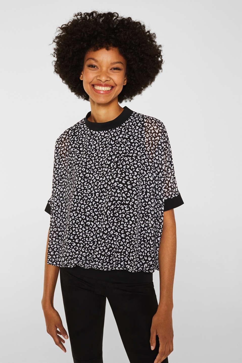 Chiffon blouse, BLACK 3, detail image number 0