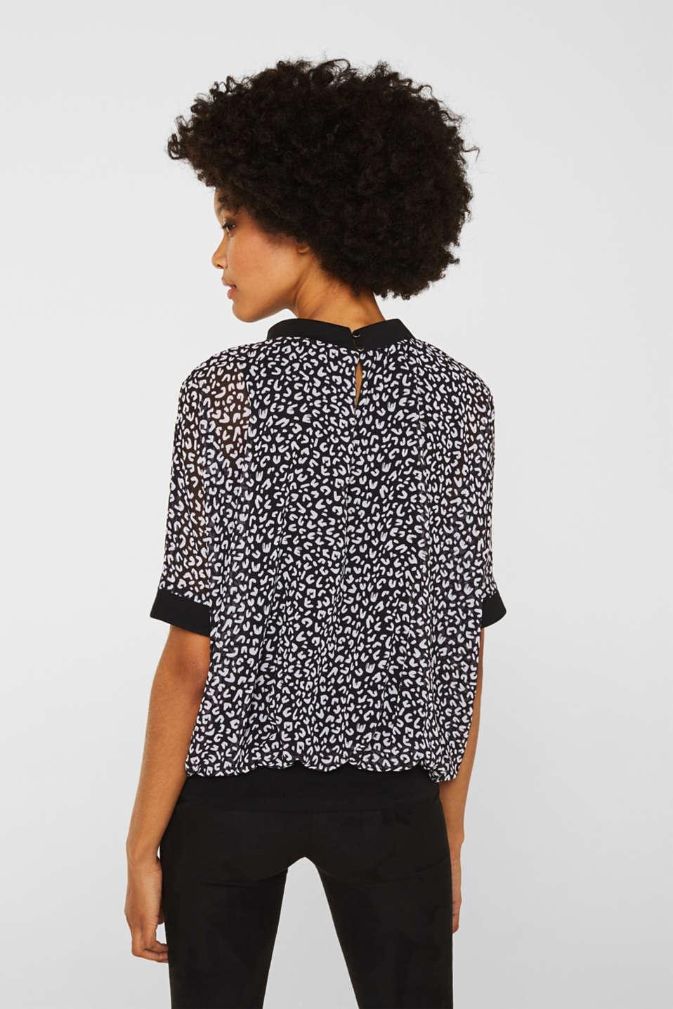 Chiffon blouse, BLACK 3, detail image number 3
