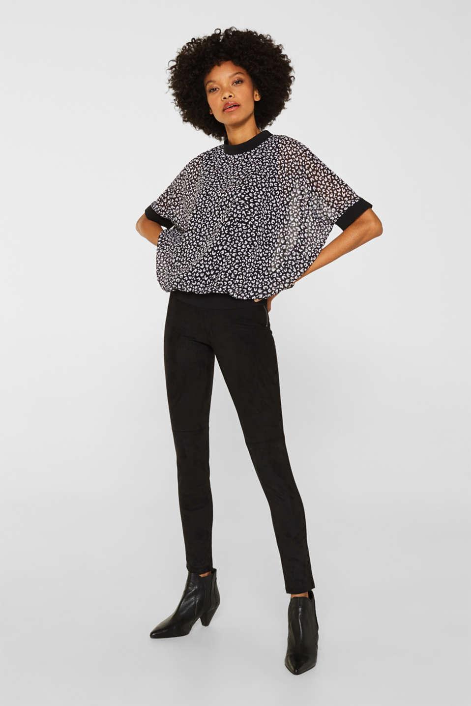 Chiffon blouse, BLACK 3, detail image number 1