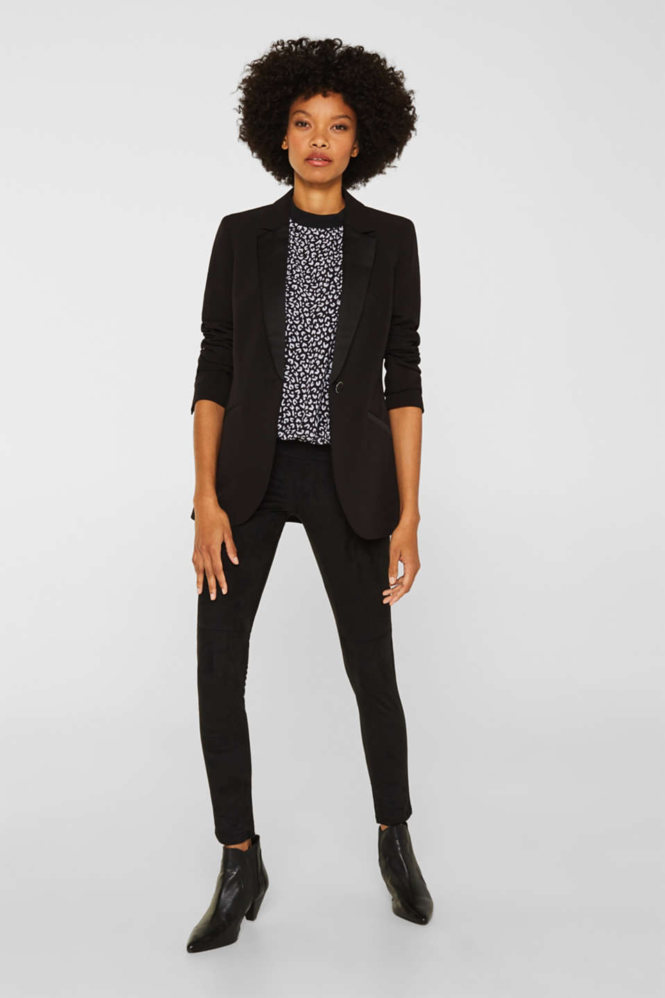 Chiffon blouse, BLACK 3, detail image number 5