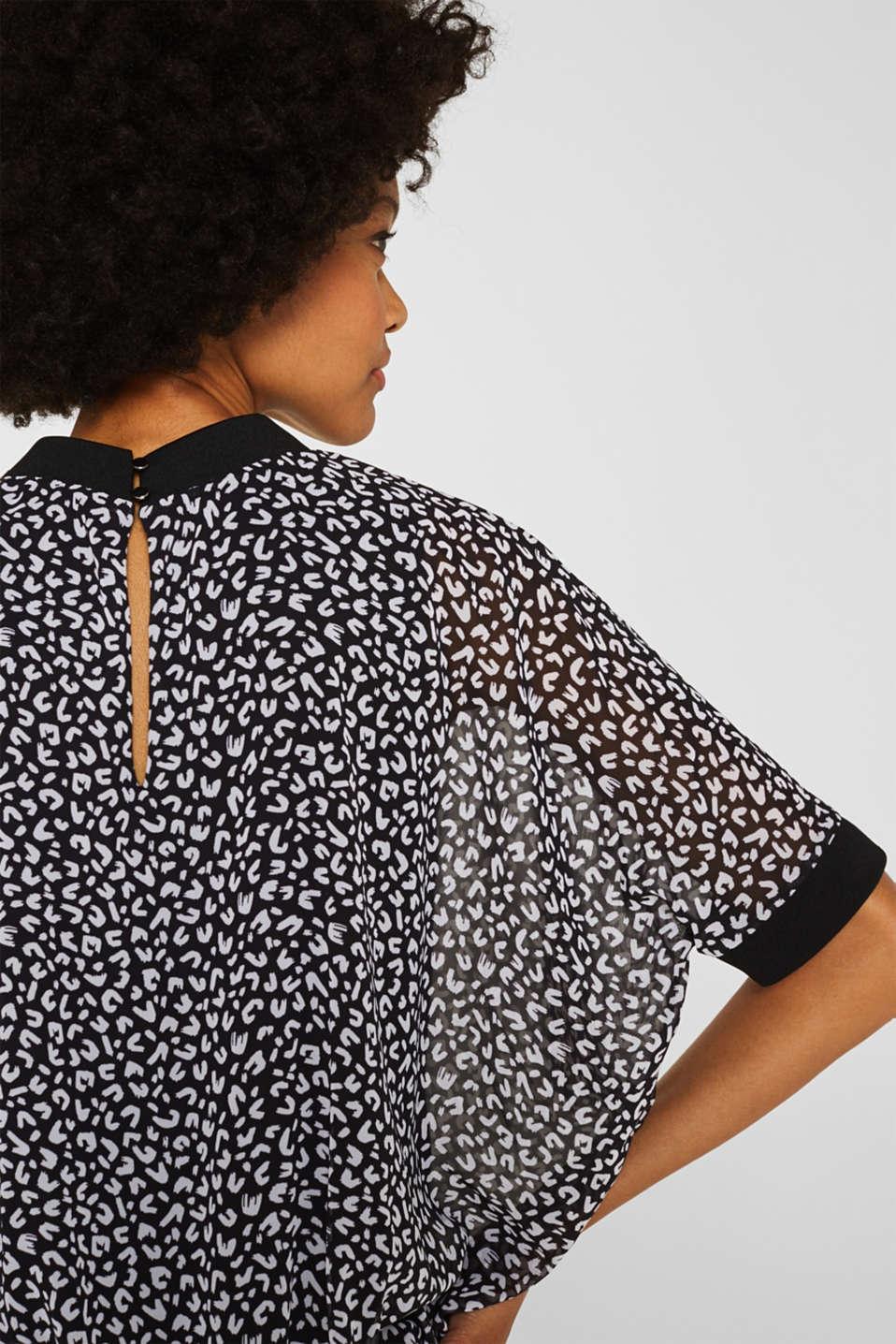 Chiffon blouse, BLACK 3, detail image number 2