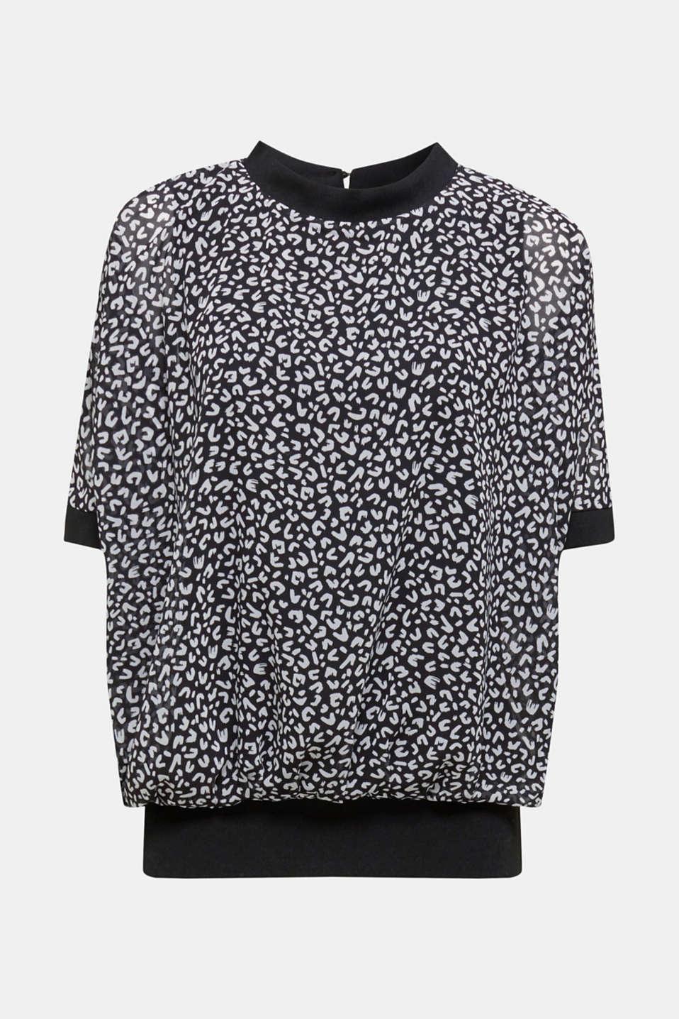 Chiffon blouse, BLACK 3, detail image number 6