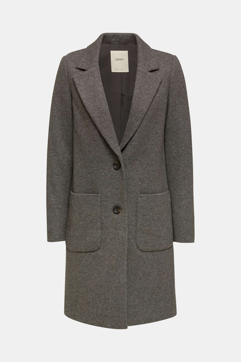 Made of blended wool: Coat in a knit look
