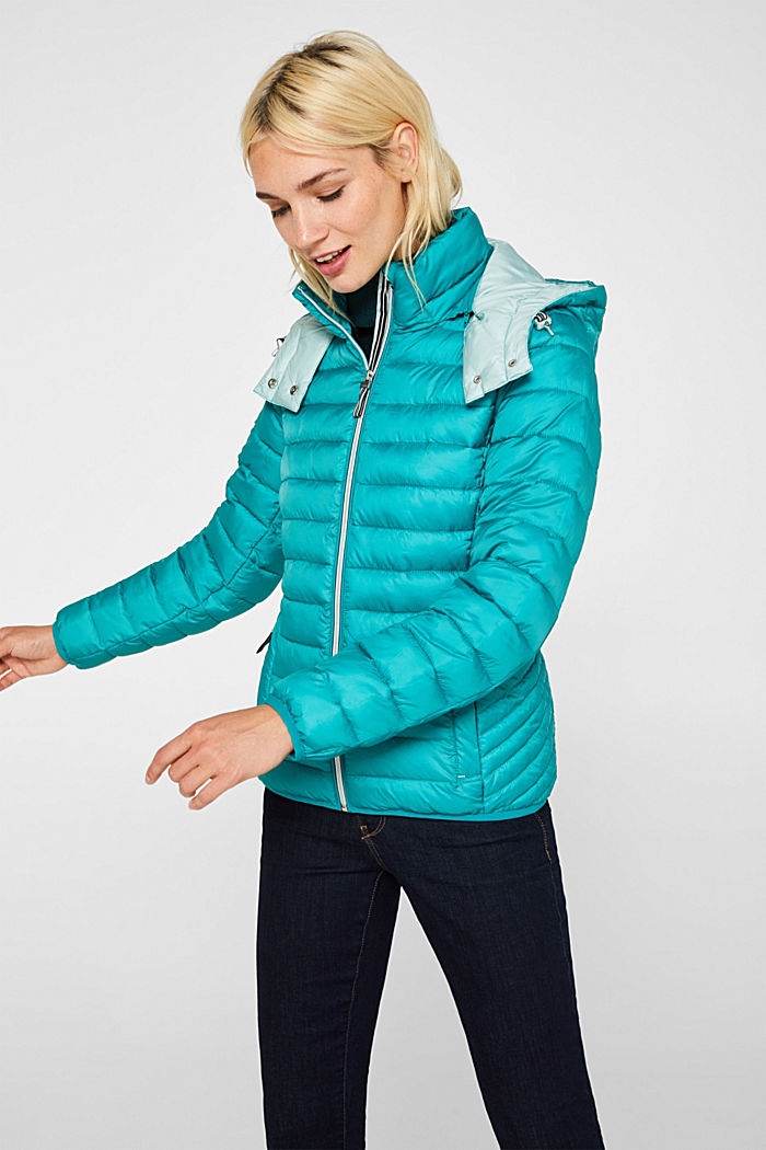 Quilted jacket with 3M™ Thinsulate™ padding, TEAL GREEN, detail image number 0