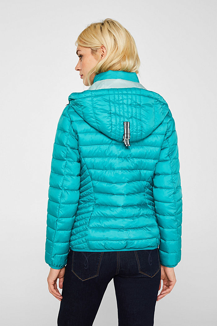 Quilted jacket with 3M™ Thinsulate™ padding, TEAL GREEN, detail image number 3