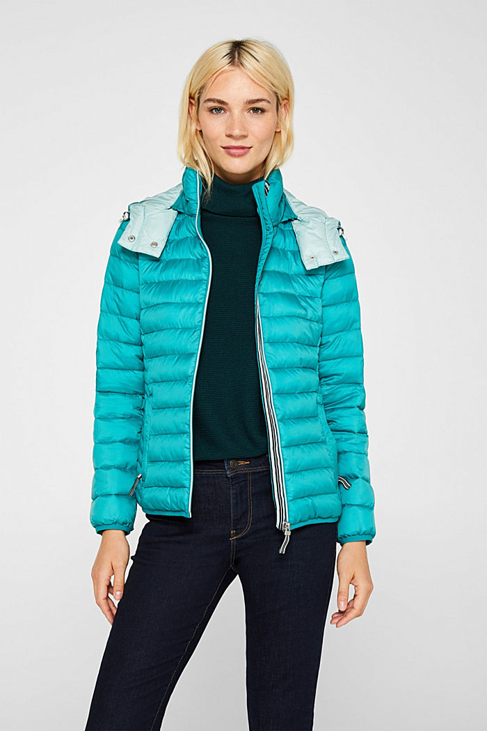 Quilted jacket with 3M™ Thinsulate™ padding, TEAL GREEN, detail image number 5
