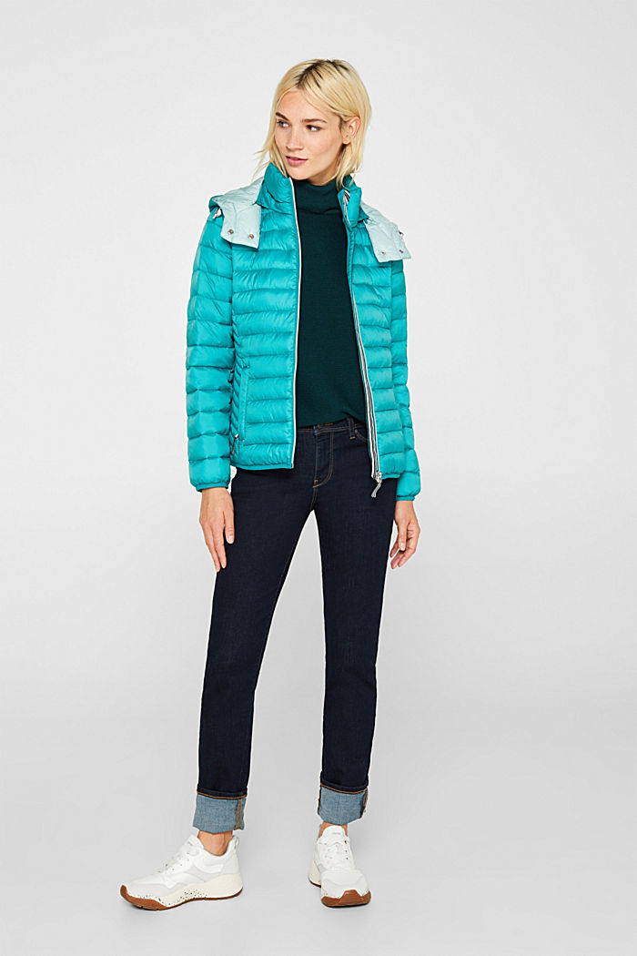 Quilted jacket with 3M™ Thinsulate™ padding, TEAL GREEN, detail image number 1