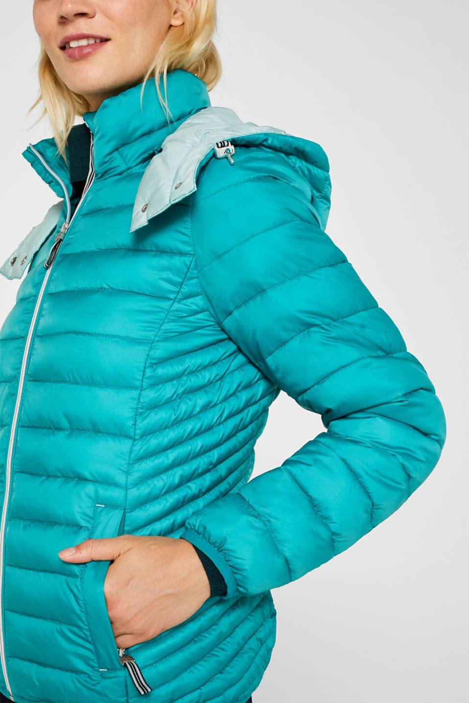 Quilted jacket with 3M™ Thinsulate™ padding, TEAL GREEN, detail image number 2