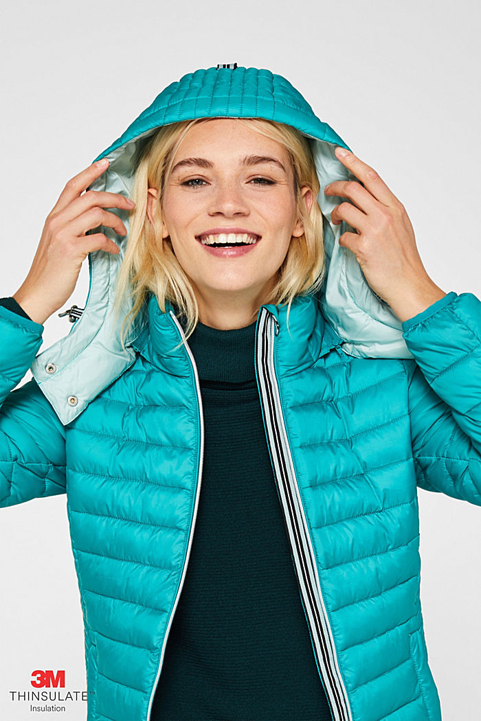 Quilted jacket with 3M™ Thinsulate™ padding, TEAL GREEN, detail image number 6
