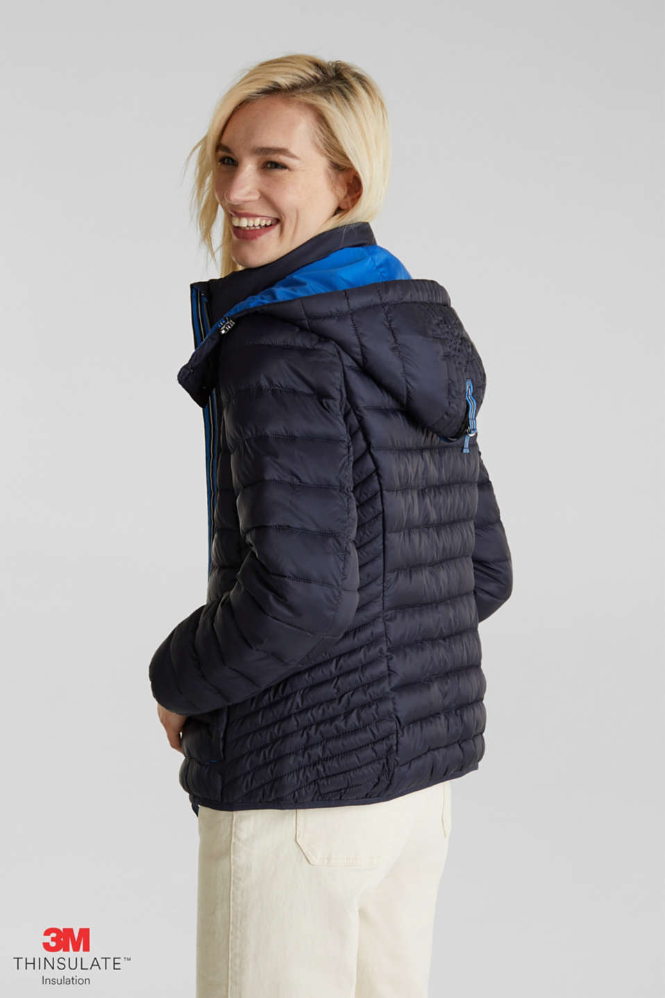 Quilted jacket with 3M™ Thinsulate™ padding, NAVY, detail image number 0