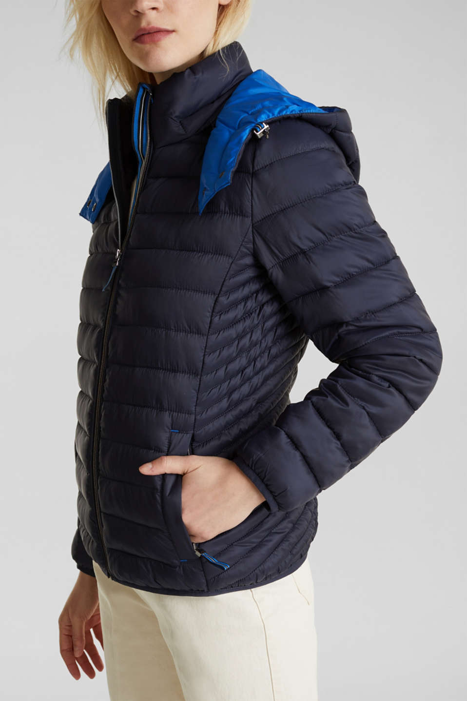 Quilted jacket with 3M™ Thinsulate™ padding, NAVY, detail image number 2