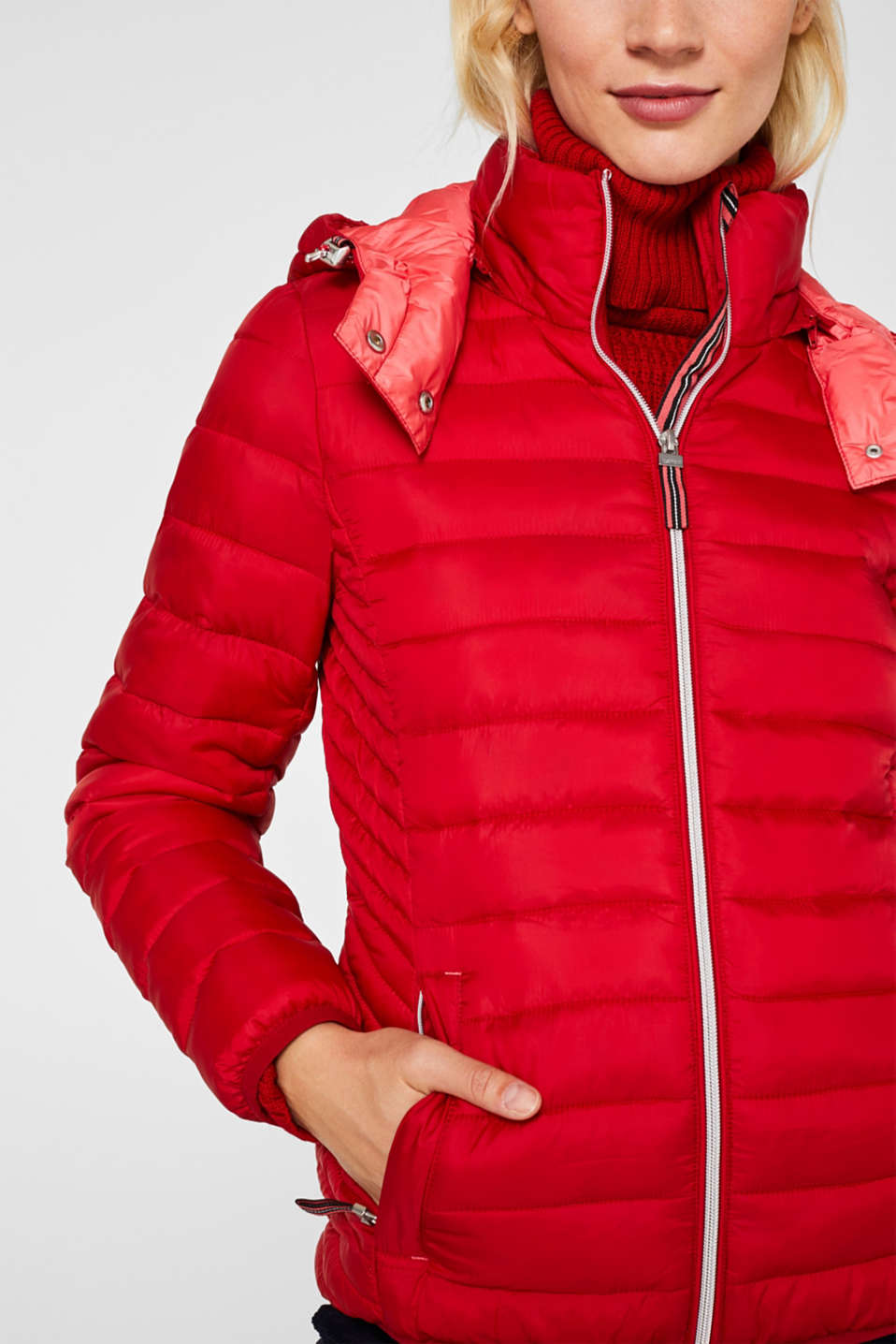 Jackets outdoor woven, DARK RED, detail image number 2