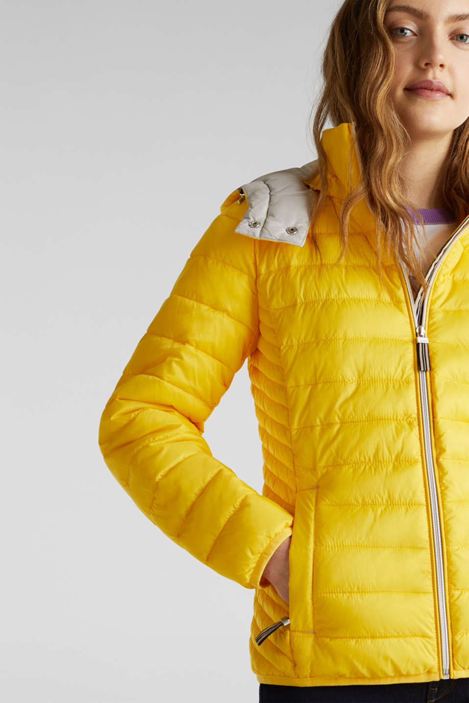 Quilted jacket with 3M™ Thinsulate™ padding, YELLOW, detail image number 2