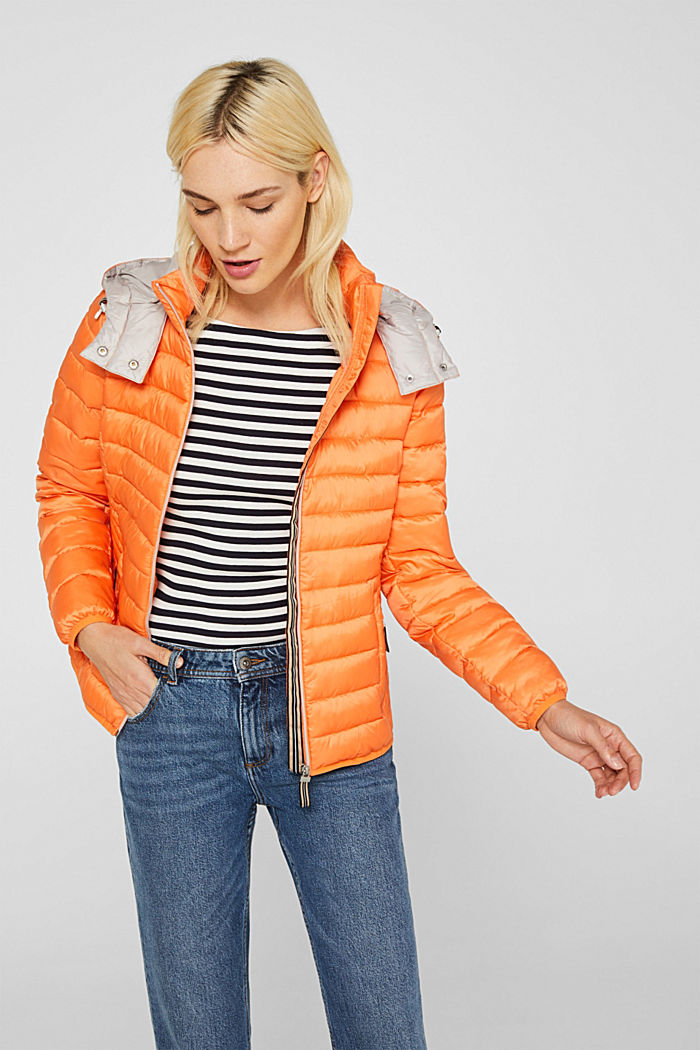 Quilted jacket with 3M™ Thinsulate™ padding, RUST ORANGE, detail image number 0