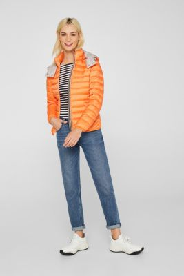 Quilted jacket with 3M™ Thinsulate™ padding, RUST ORANGE, detail