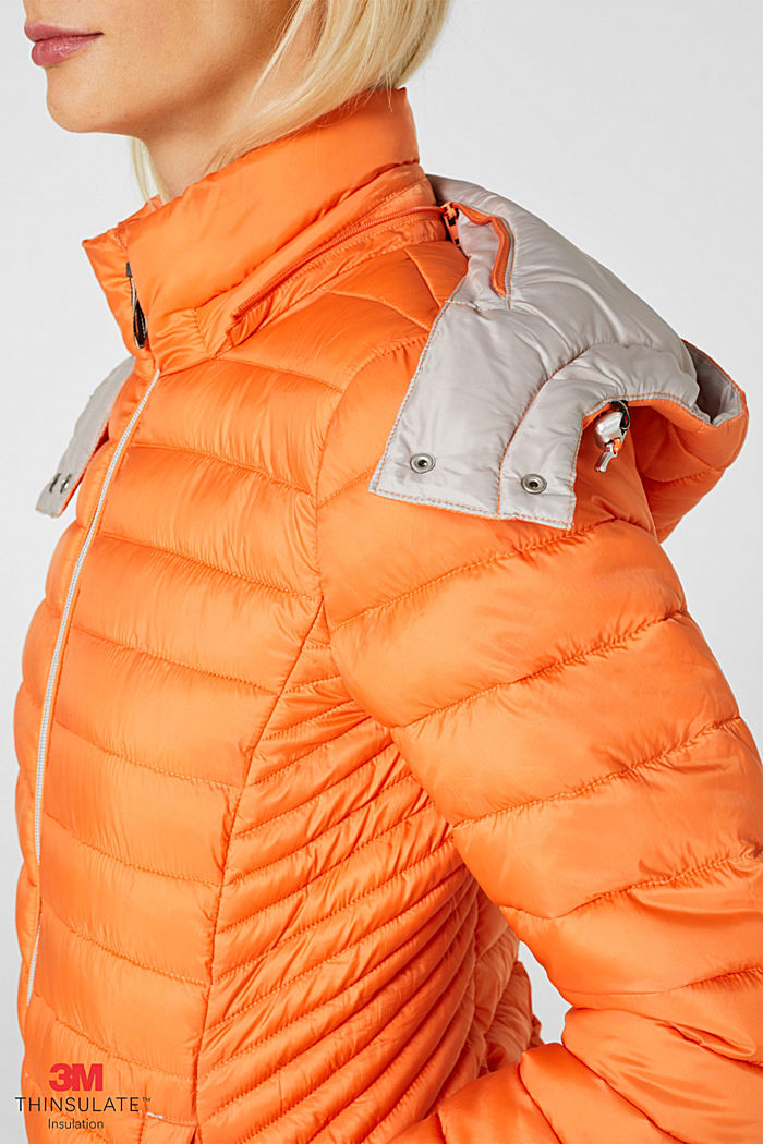 Quilted jacket with 3M™ Thinsulate™ padding, RUST ORANGE, detail image number 2