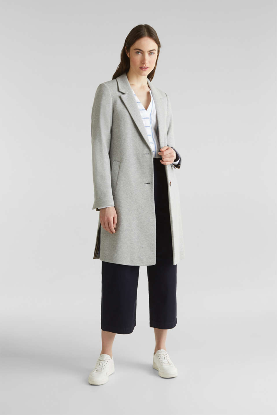 Esprit - Blazer coat made of jersey