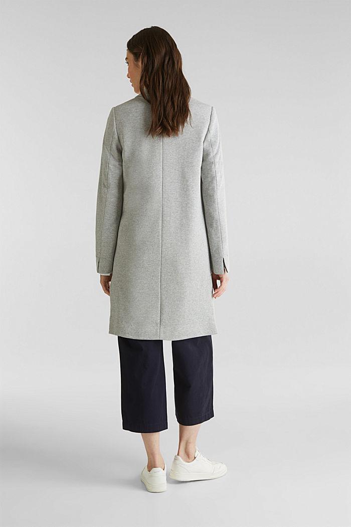 Blazer coat made of jersey, LIGHT GREY, detail image number 3