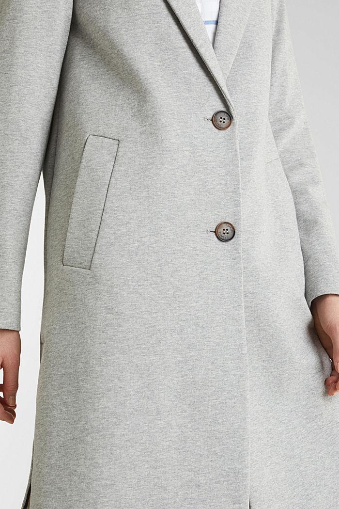Blazer coat made of jersey, LIGHT GREY, detail image number 2