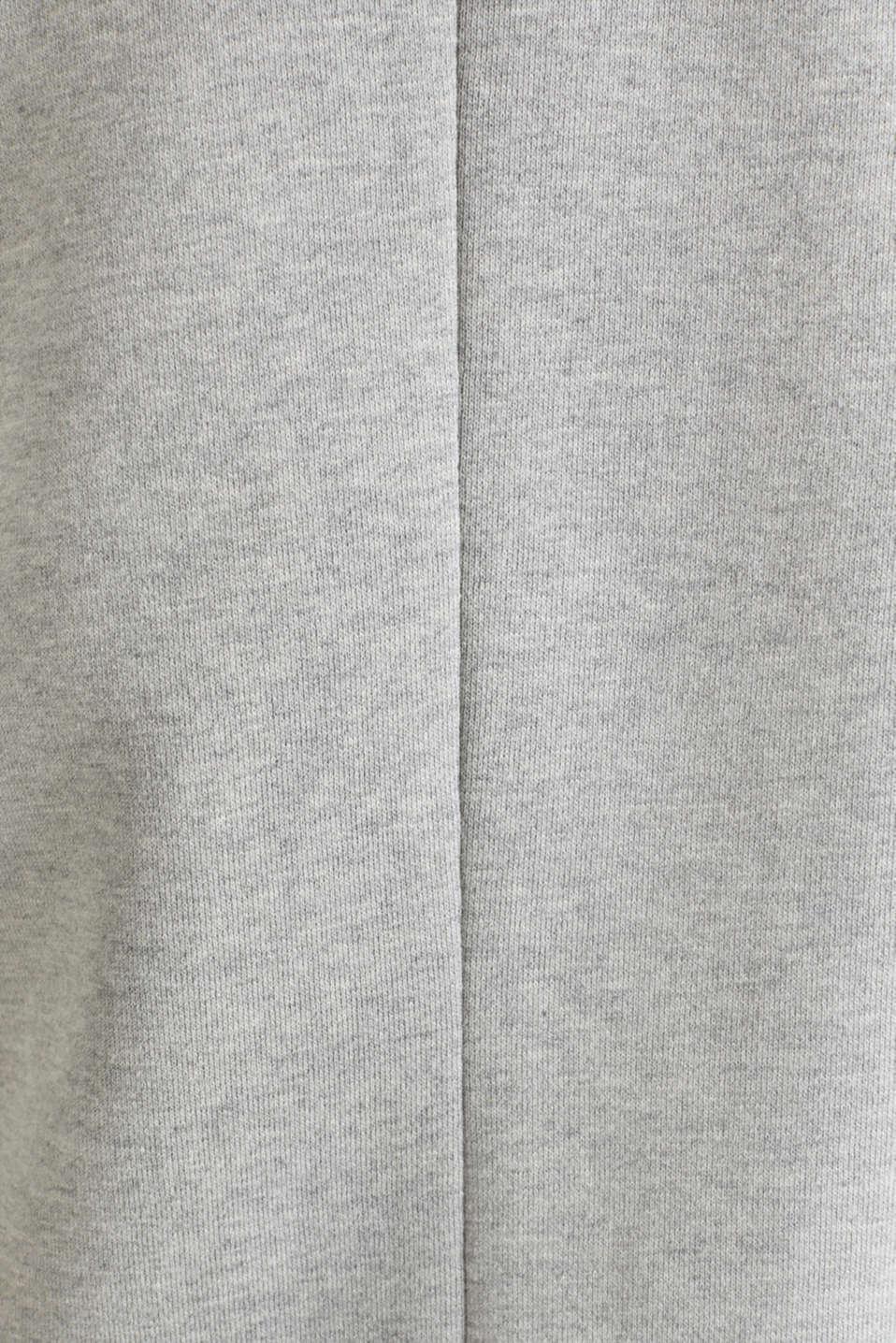 Blazer coat made of jersey, LIGHT GREY 5, detail image number 4