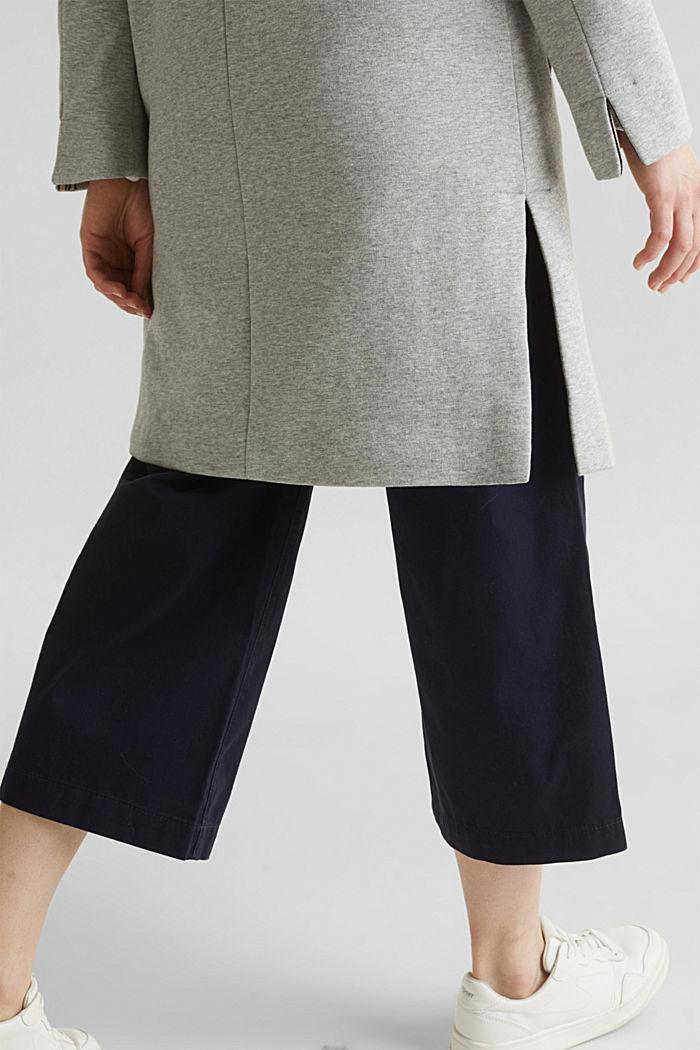 Blazer coat made of jersey, LIGHT GREY, detail image number 5
