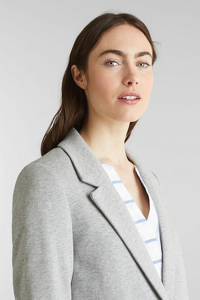 Blazer coat made of jersey, LIGHT GREY, detail image number 6