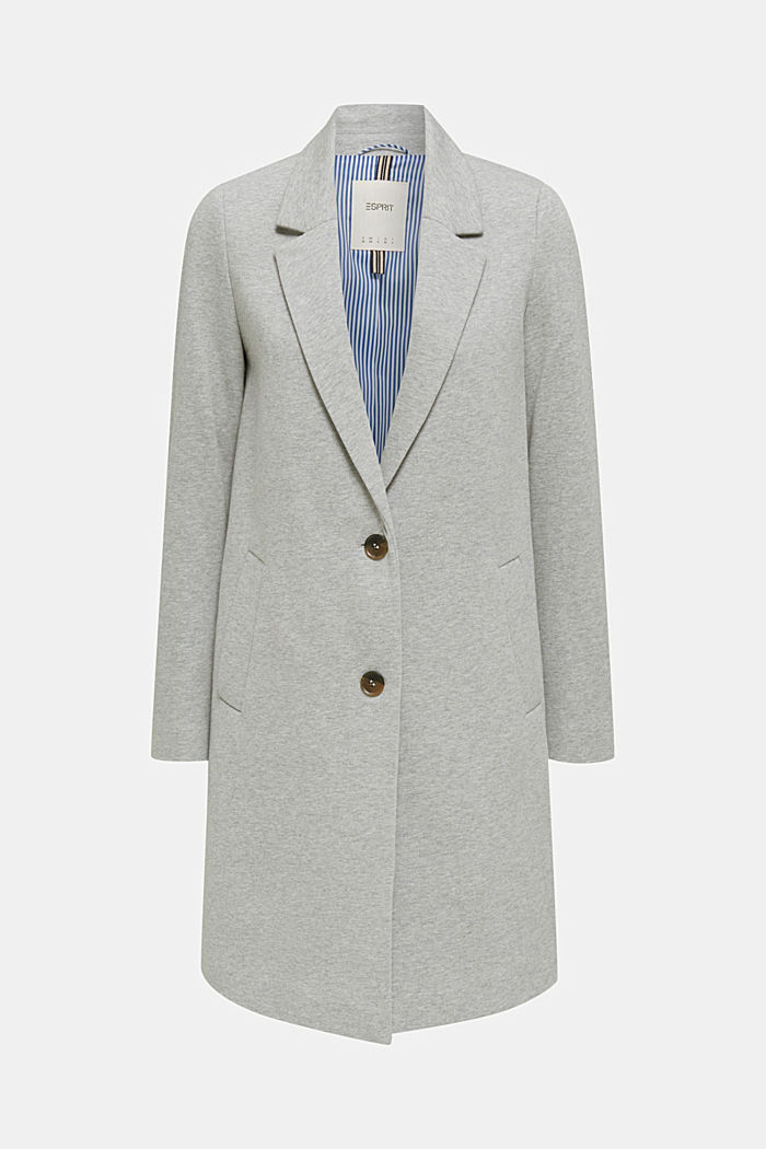 Blazer coat made of jersey