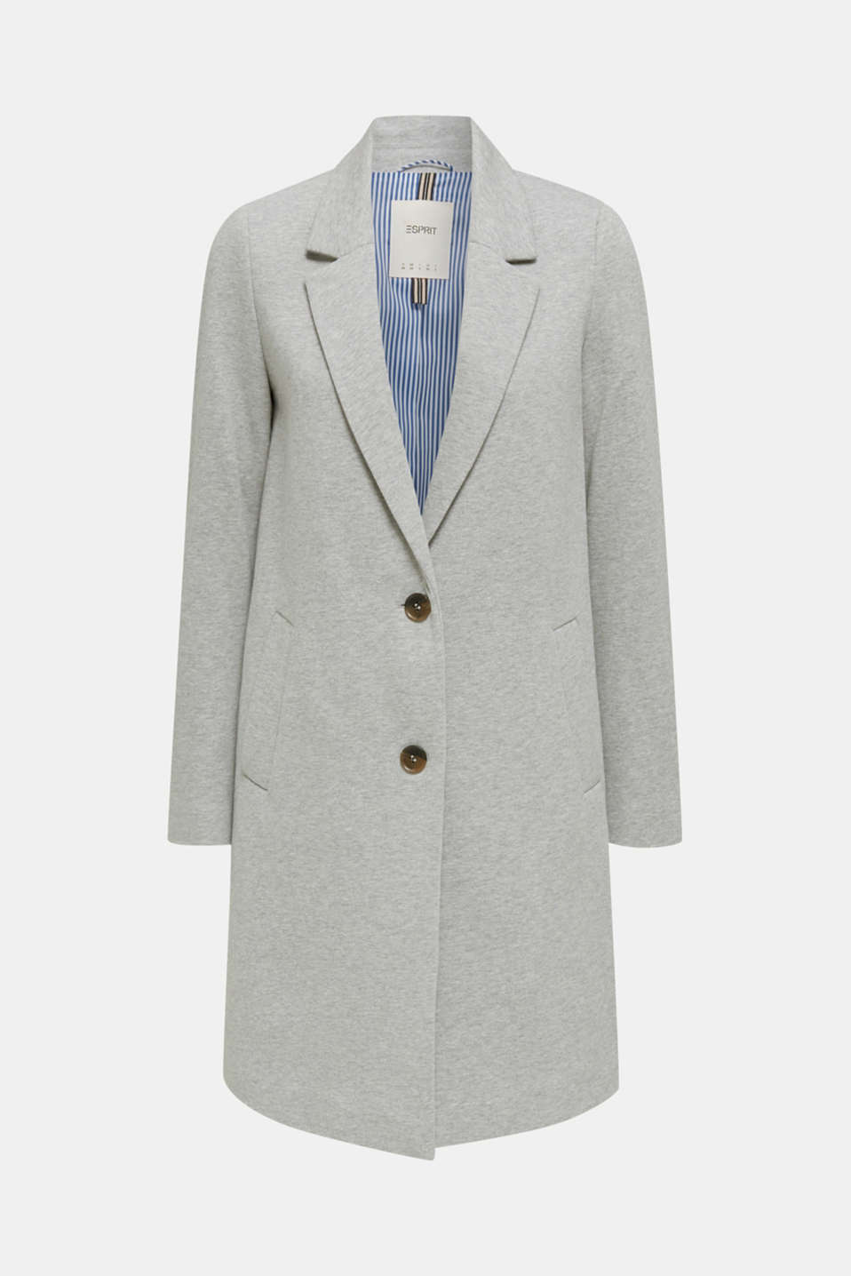 Blazer coat made of jersey, LIGHT GREY 5, detail image number 2