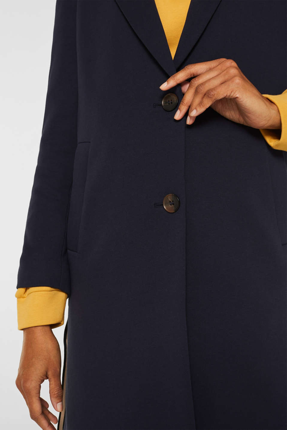 Blazer coat made of jersey, NAVY, detail image number 2