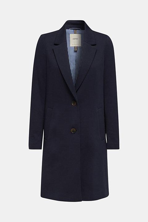 Blazer coat made of jersey