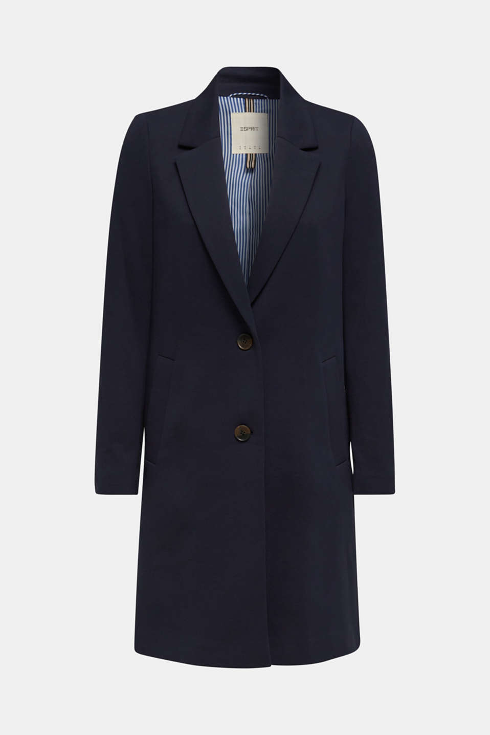 Blazer coat made of jersey, NAVY, detail image number 6