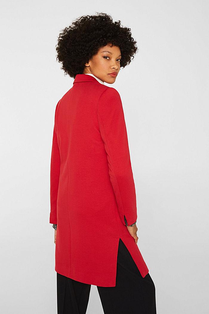 Blazer coat made of jersey, DARK RED, detail image number 3