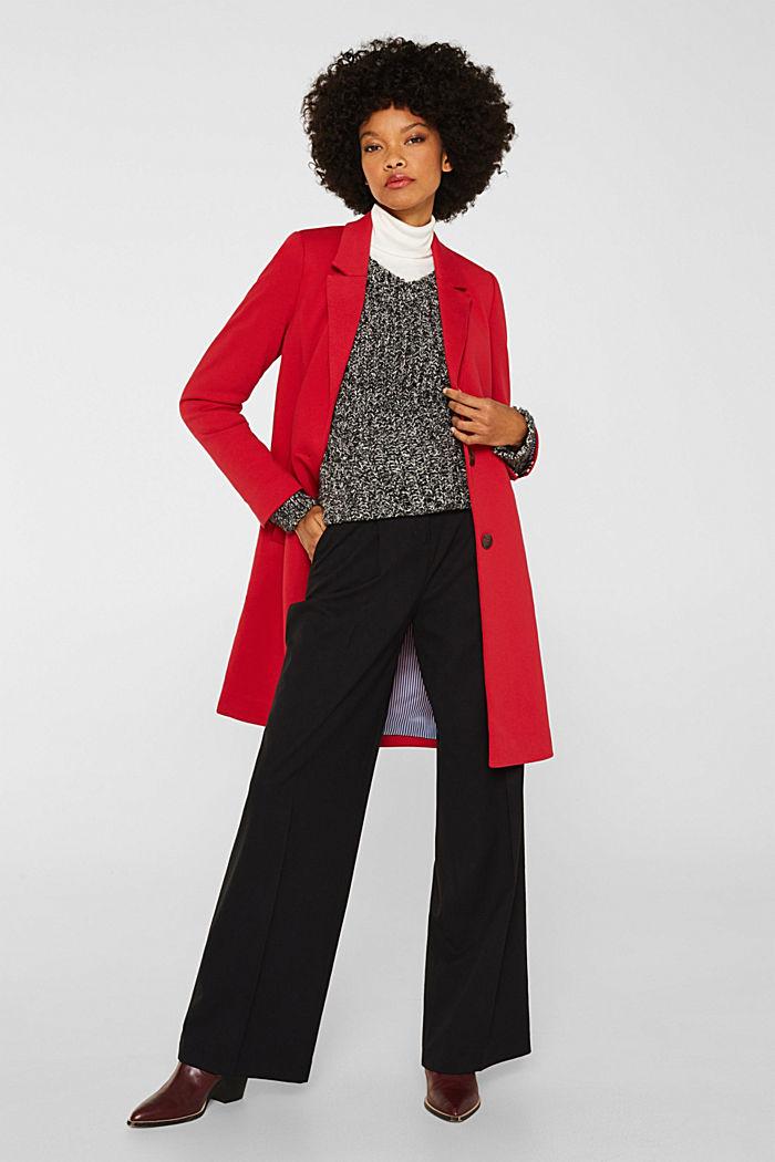 Blazer coat made of jersey, DARK RED, detail image number 1