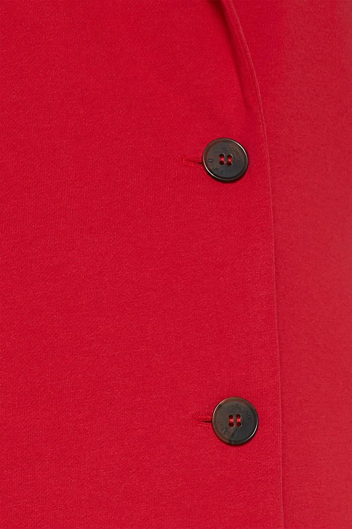Blazer coat made of jersey, DARK RED, detail image number 2