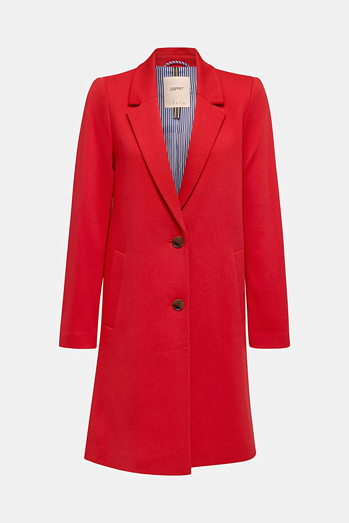 Blazer coat made of jersey, DARK RED, detail image number 4