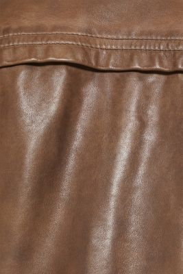 Made of leather: biker jacket with a stand-up collar