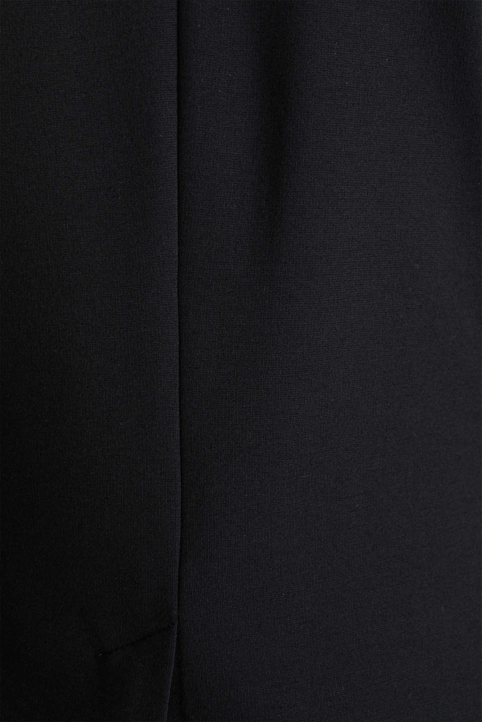Stretch jersey blazer with pockets, BLACK, detail image number 4