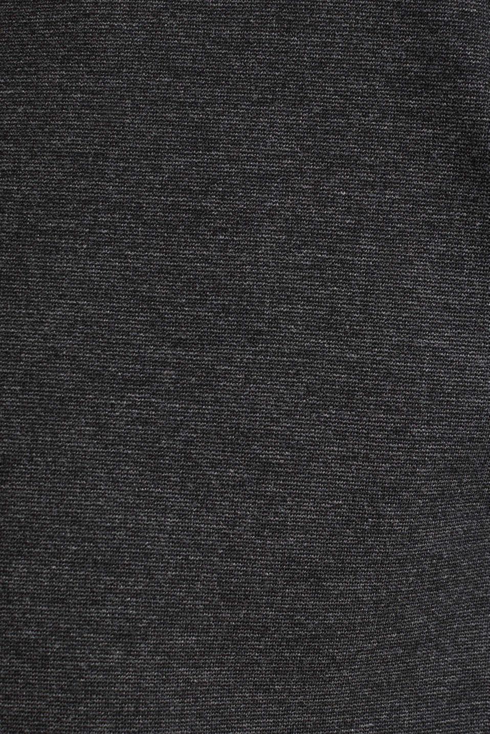 Stretch jersey blazer with pockets, DARK GREY, detail image number 4