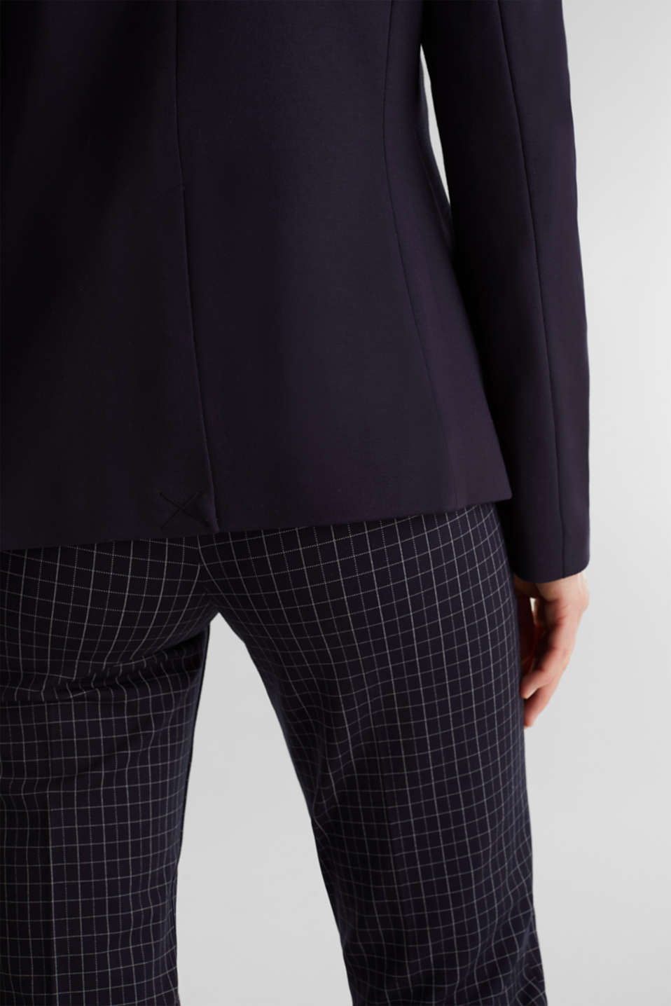 Stretch jersey blazer with pockets, NAVY, detail image number 2