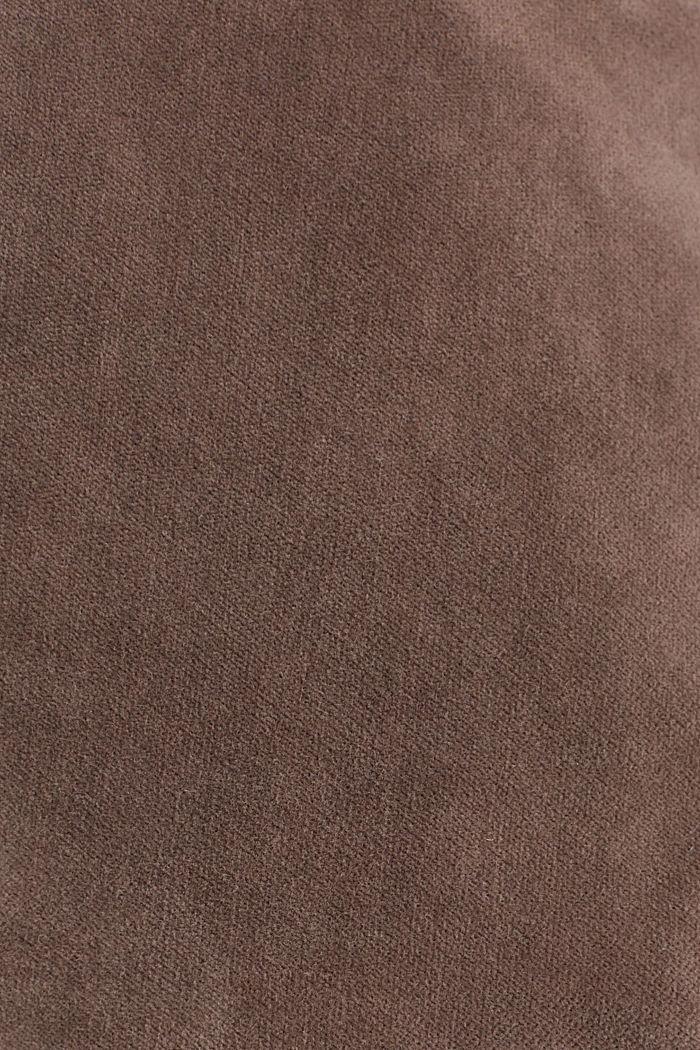 Samt-Blazer mit Stretchkomfort, LIGHT TAUPE, detail image number 4