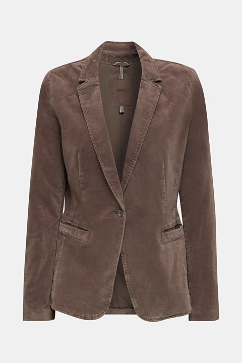 Velvet blazer with stretch for comfort