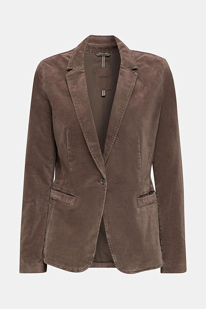 Velvet blazer with stretch for comfort