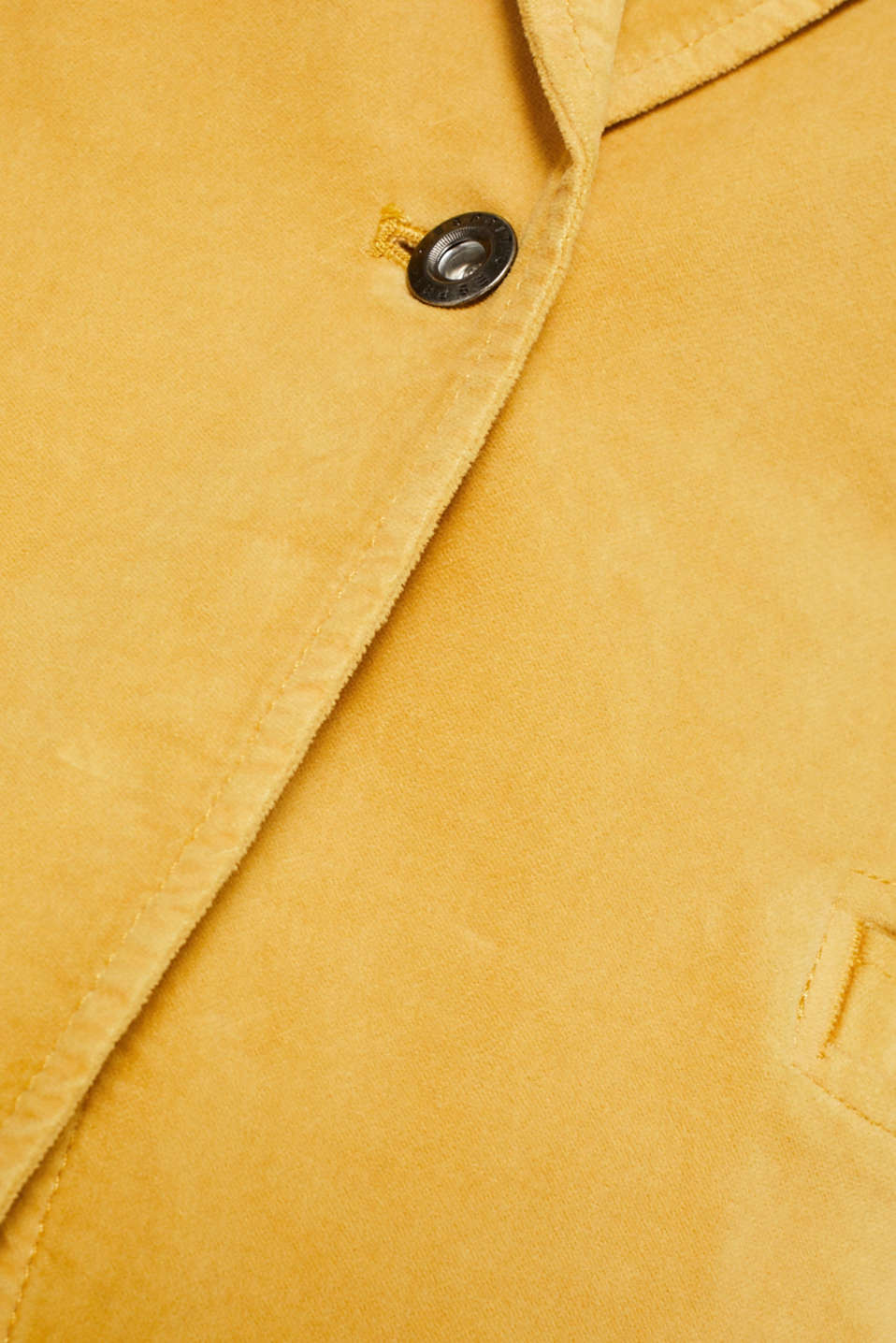 Velvet blazer with stretch for comfort, DUSTY YELLOW, detail image number 4
