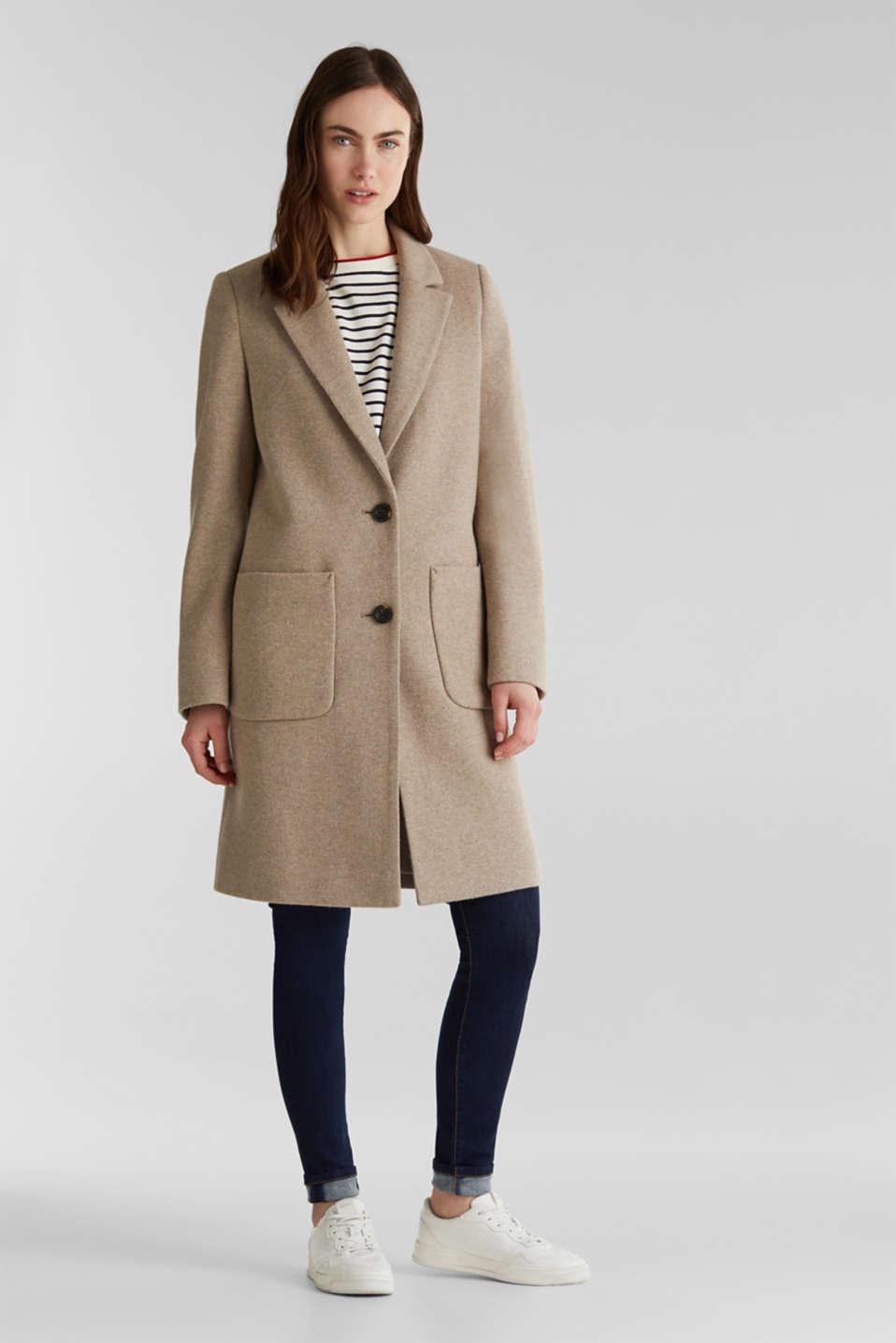Coats woven, BEIGE 5, detail image number 0