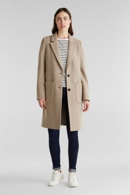 Made of blended wool: ready-to-wear knit coat, BEIGE 5, detail