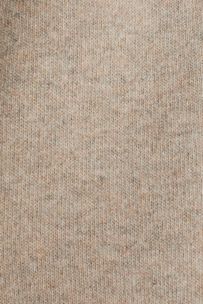 Af uldblanding: færdigsyet strikfrakke, BEIGE, detail image number 3