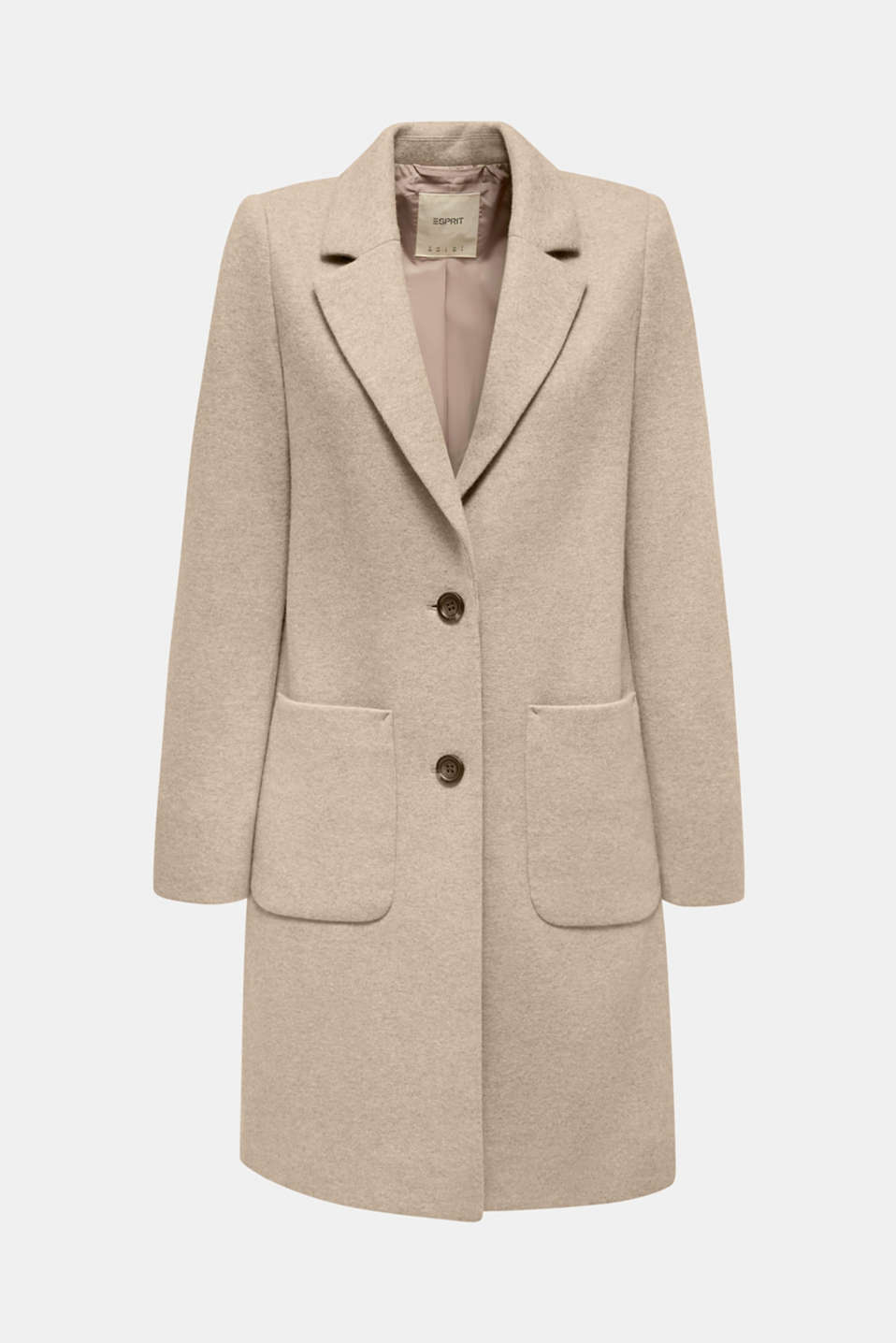 Made of blended wool: ready-to-wear knit coat