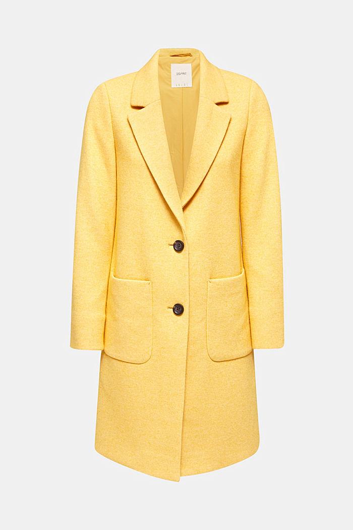 Con lana: abrigo de punto fino, DUSTY YELLOW, detail image number 4