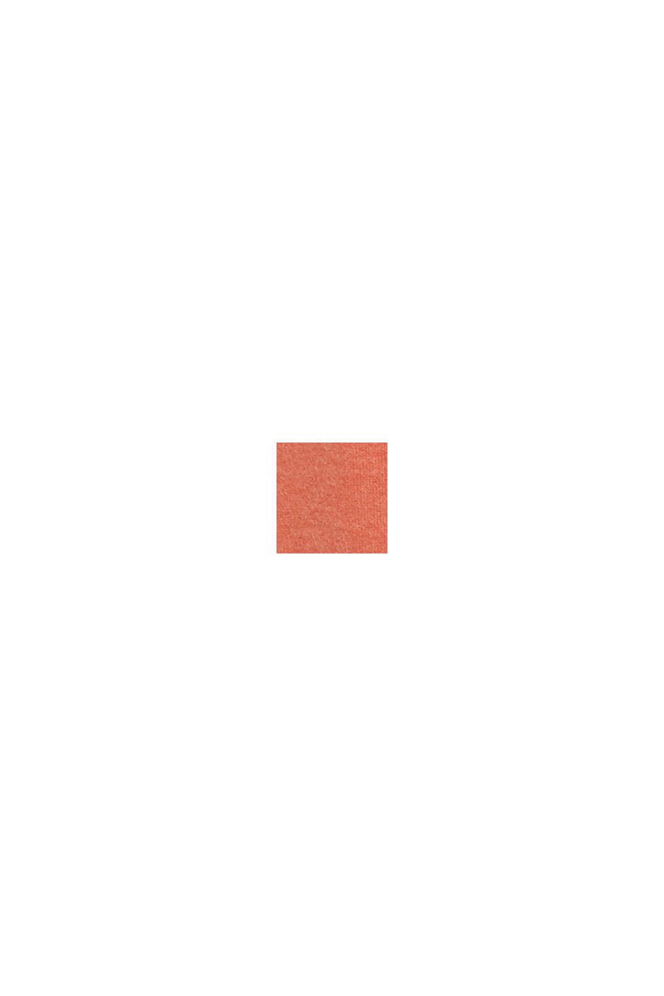 Aus Woll-Mix: Mantel in Strick-Optik, BURNT ORANGE, swatch