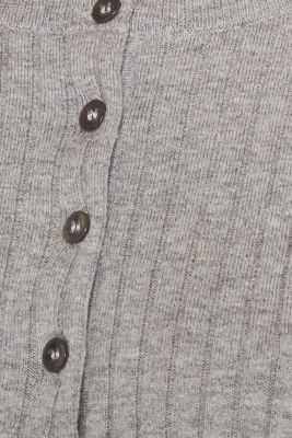 With silk: ribbed jumper with buttons
